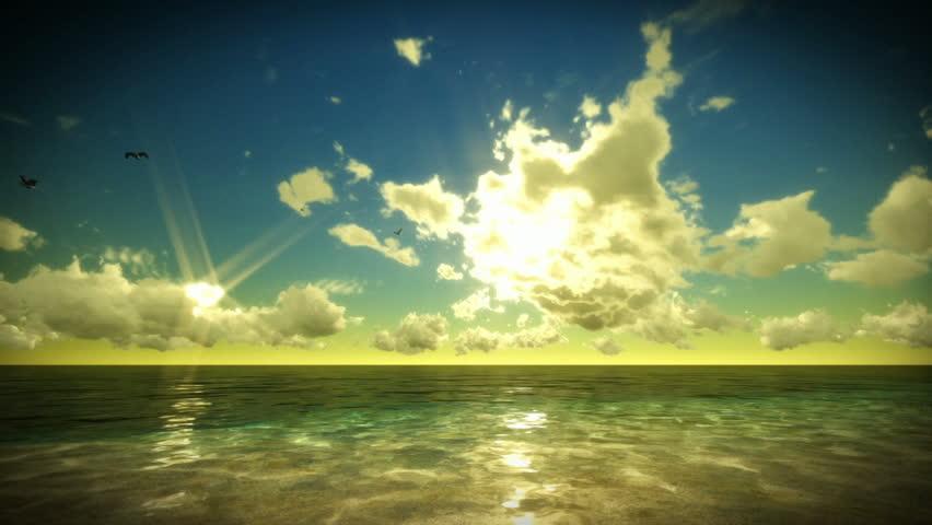 Tropical scene Time Lapse Sunrise