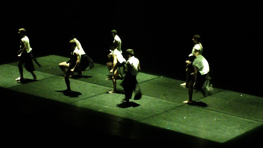 TEL AVIV, ISRAEL - DEC 02, 2015: Suzanne Dellal and Opera House perform Man of the Hour, an intimate exploration of our search as a society and individuals for the glory of the moment and for serenity