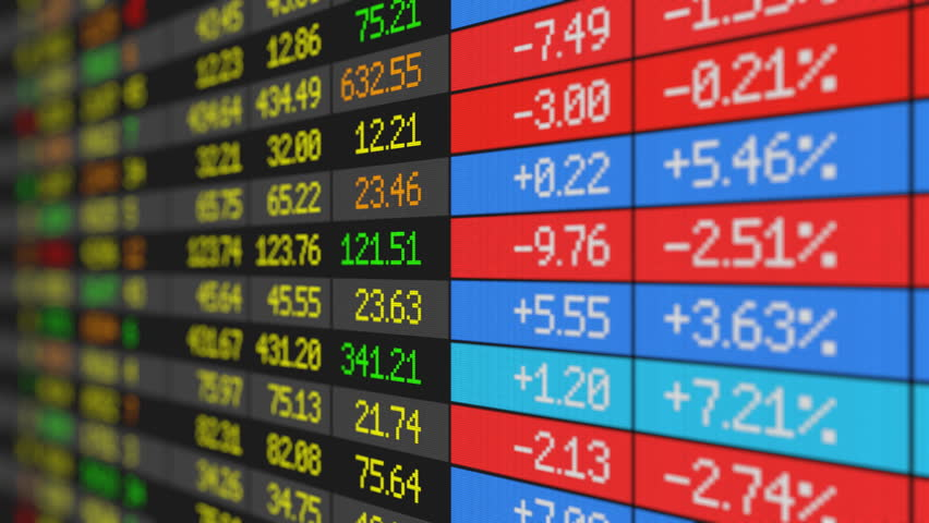 Stock Market board loop-ready HD   Shutterstock HD Video #1325878