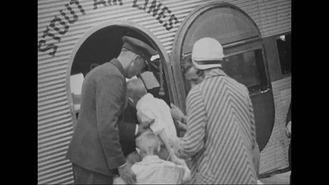 CIRCA 1910s - Charles Lindberg helps promote air travel in 1918.