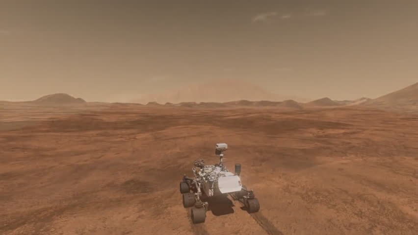CIRCA 2010s - NASA Animation Of The Curiosity Rover ...