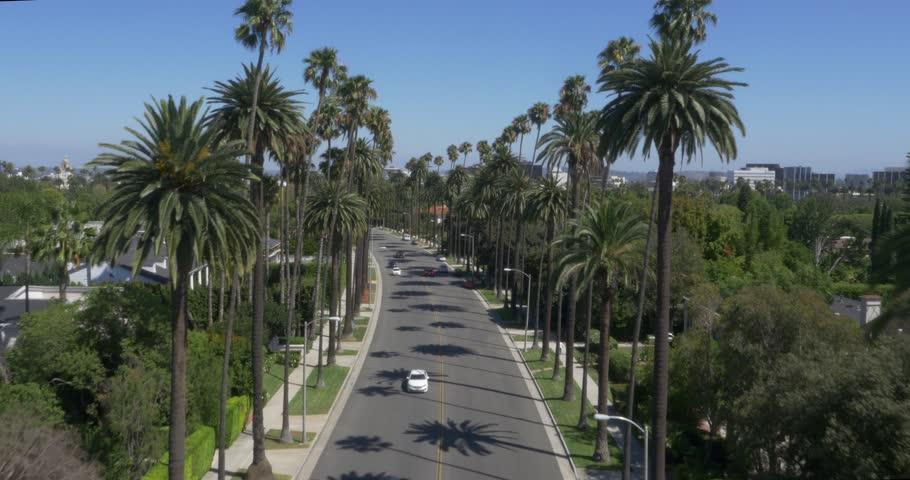 Aerial Shot of Beverly Hills, California ( Beverly Hills- July 2015) | Shutterstock HD Video #13356368