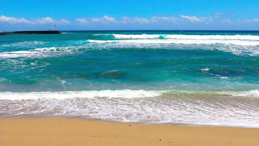 Ocean Waves On the Beach  Stock Footage Video (100% Royalty-free) 13360178    Shutterstock