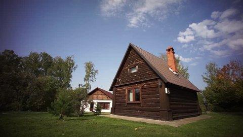 Beautiful small wooden village house