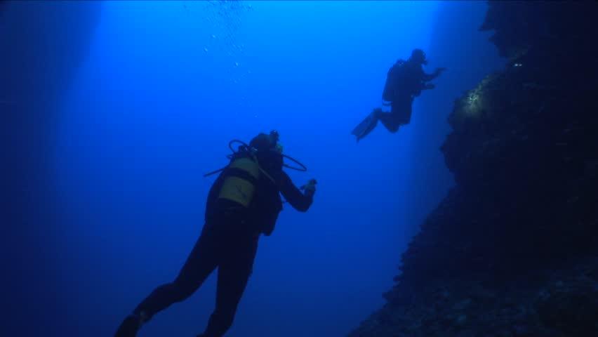 Cave diving | Shutterstock HD Video #13428875