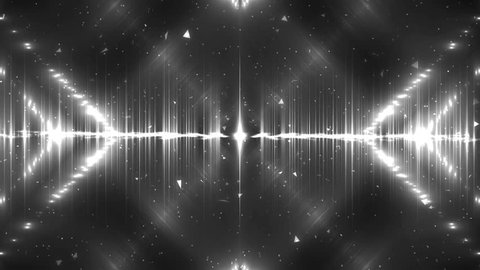 Vj Background Silver Motion With Fractal Background. Abstract gey background for use with music videos. Disco spectrum lights concert spot bulb. Seamless loop.