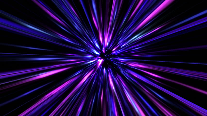30 Light Effect Wallpapers To Liven Up Your Desktop: Space Time Travel. Computer Generated. Stock Footage Video
