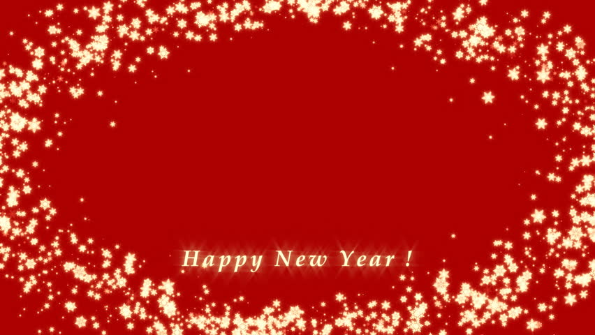 Happy New Yearchristmas3d Frame Winter Stock Footage Video