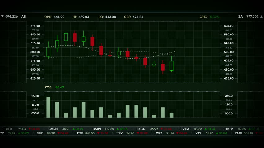 Stock Performance Chart Green | Shutterstock HD Video #13534898