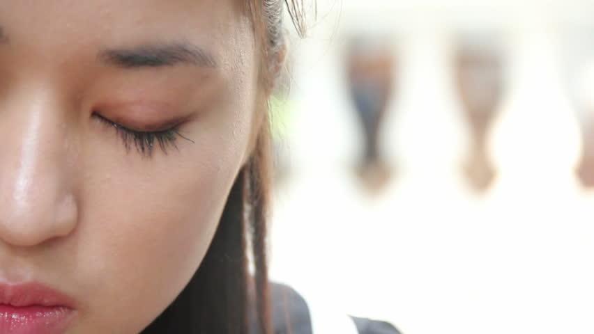 Asian girl.