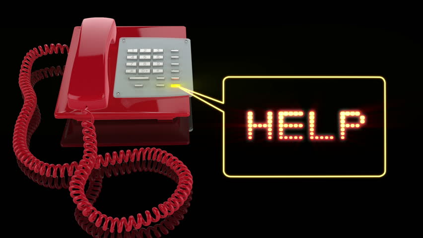 Emergency Red Phone with Help text | Shutterstock HD Video #1361518