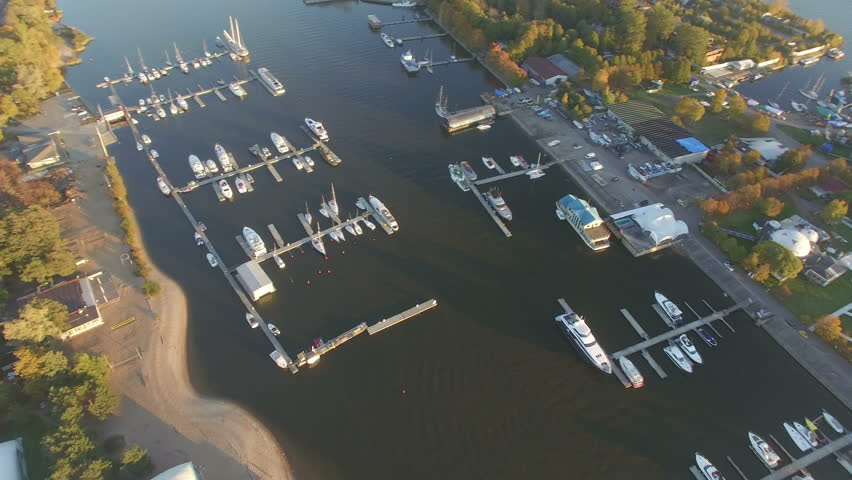 Saint Petersburg, Russia - Summer 2015: Aerial Shoot panorama Gulf of Finland | Shutterstock HD Video #13678421