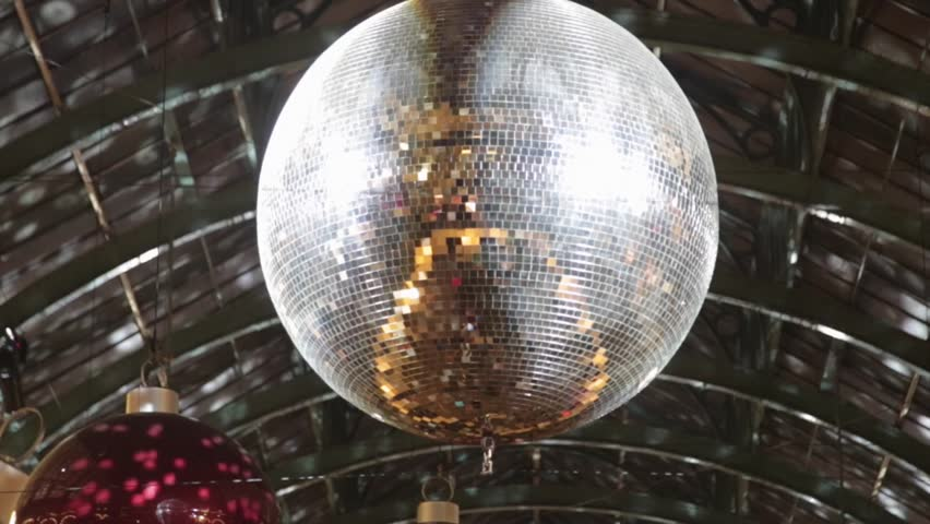 Christmas Decoration With Disco Ball and Reflections