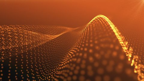 golden orange smooth flowing abstract background