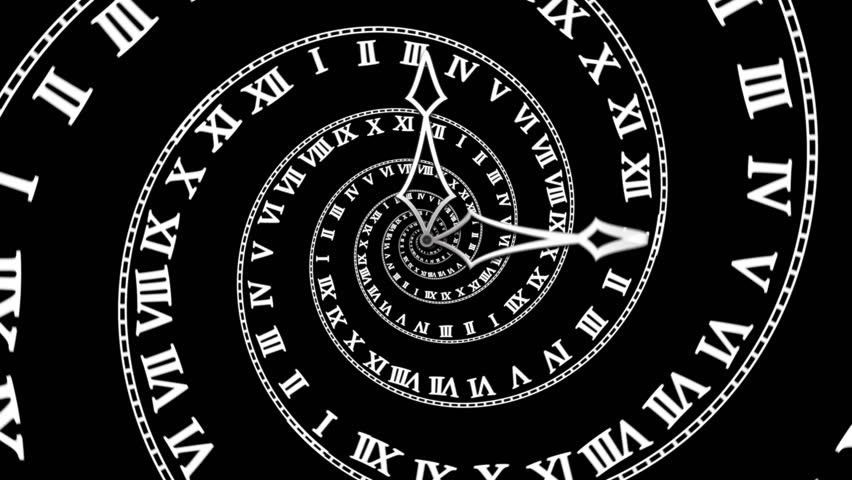 Black Spiral Clock Loop Hd Looping Animation Symbolizing