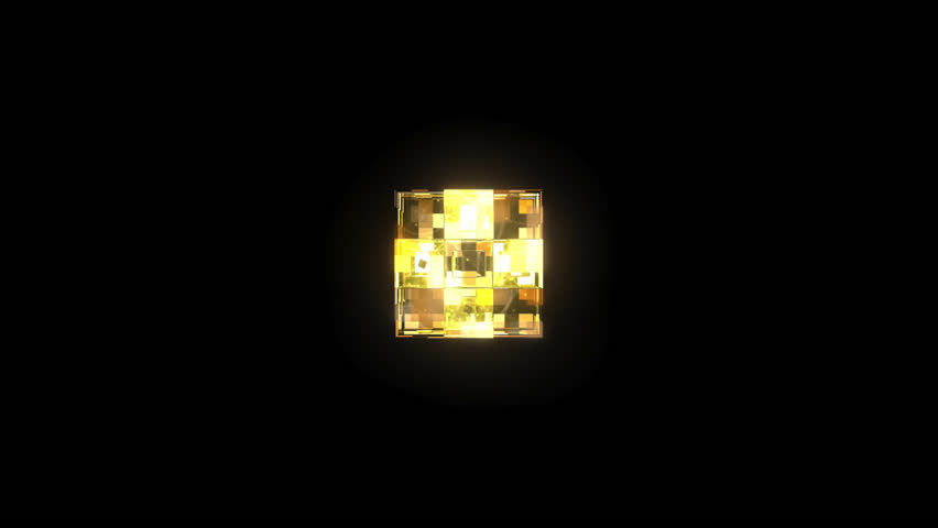 3D Glass Cubes - 3D animation motion graphics of loopable 10 second video of a glass cube made up of smaller cubes. Includes animated textures. Made for DJ and VJ loops or backgrounds