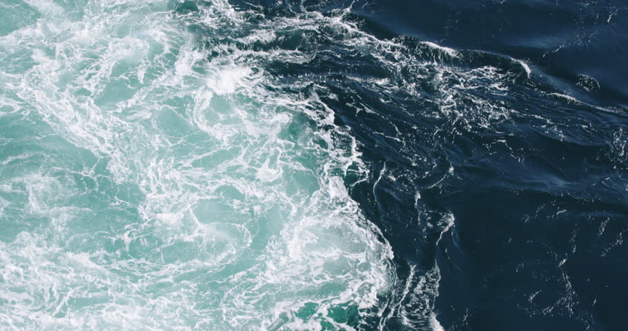 the powerful tidal current or maelstom at Saltstraumen, norway