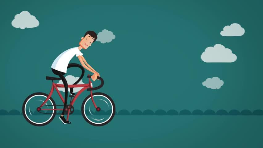 Cgi Cartoon Man Riding a Stock Footage Video (100% Royalty-free) 13770548 |  Shutterstock