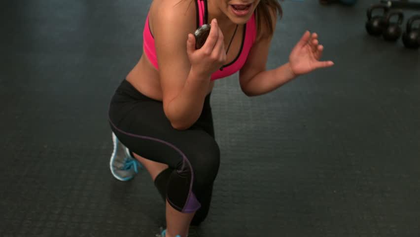 Muscular man doing bosu ball push ups in crossfit