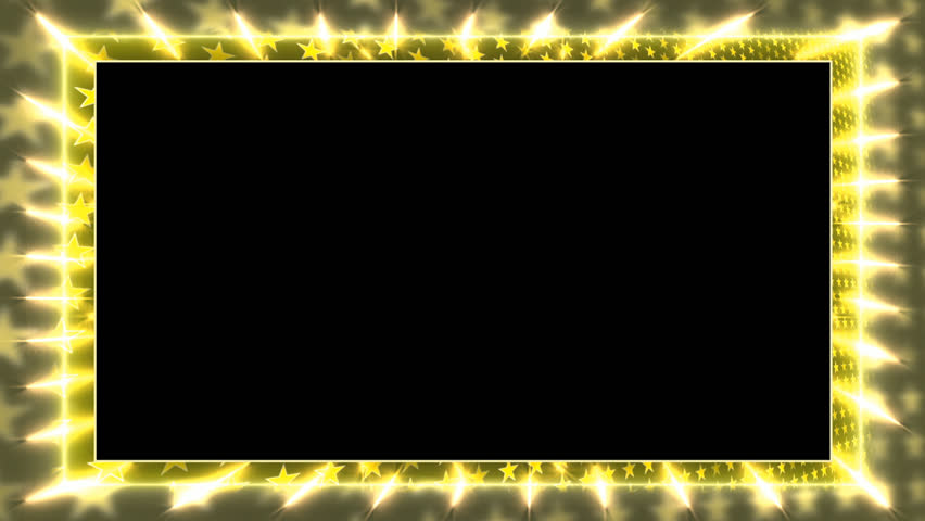 Yellow Animation Frame With A Stock Footage Video 100