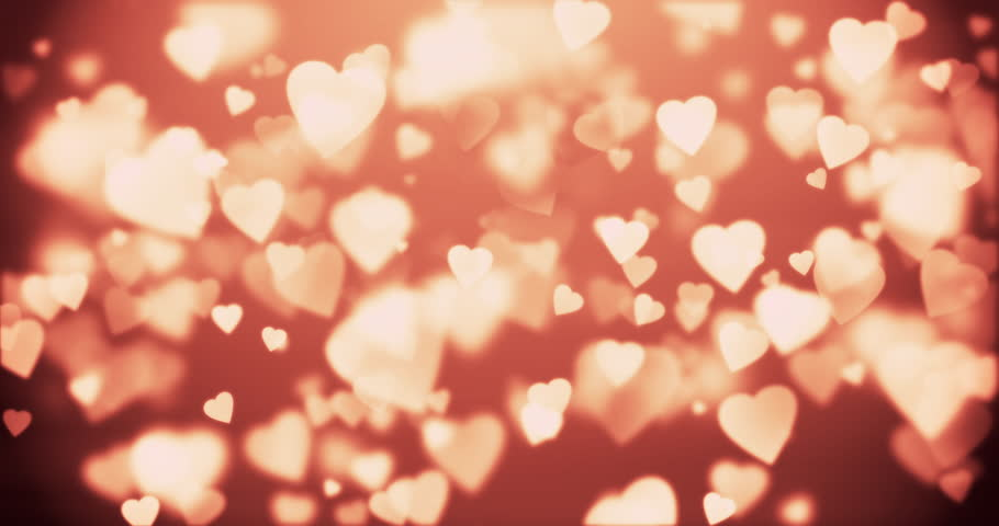 Bokeh Heart Shape Of Light Background Stock Footage Video: Abstract Background With Shining Heart-shaped Stock