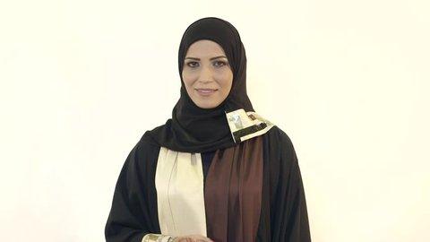 Portrait of Arab woman. Dubai, UAE -- July 2015