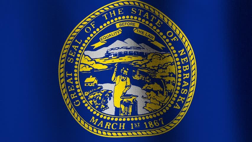 Nebraska animated flag ten second loop