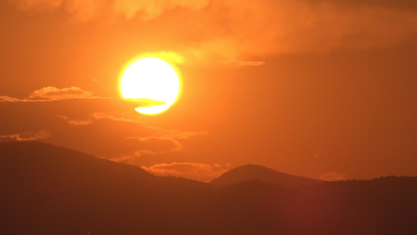 Sunset Time Lapse Mountains Sun Rays Clouds View Dramatic Sundown Top Landscape | Shutterstock HD Video #13938698