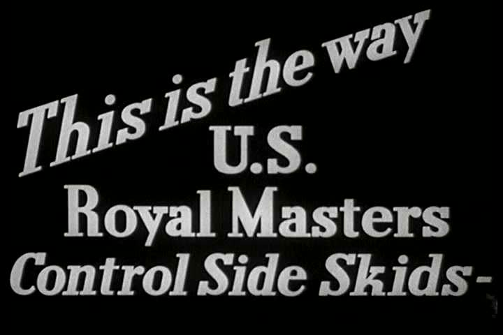 CIRCA 1930s - Animation shows how the US Royal Master tires control side skids in 1939. | Shutterstock HD Video #13976648