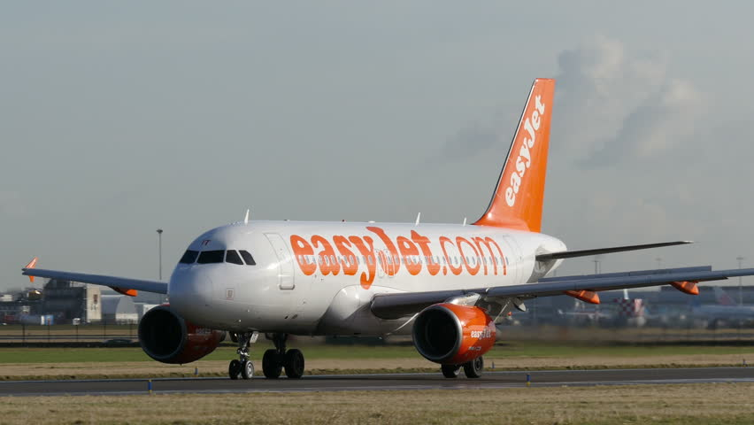 Easyjet Airbus A320 at Amsterdam Stock Footage Video (100% Royalty-free)  14055788 | Shutterstock