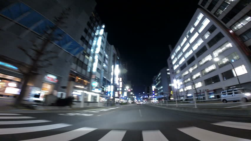April 7 Tokyo, Japan - Driver's POV through the bright neons in the Toranomon and Shimbashi business district. | Shutterstock HD Video #14070038