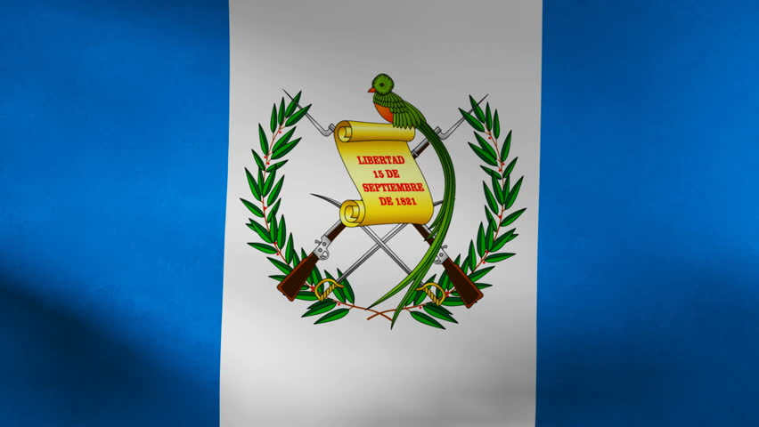 Guatemala Country Flag Stock Footage Video 100 Royalty Free