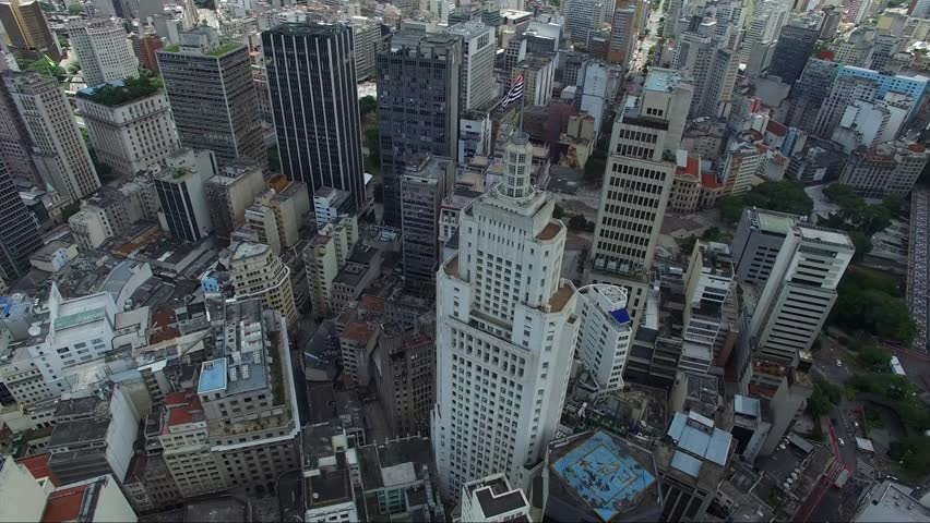 Aerial View of Downtown and Banespa Building in Sao Paulo, Brazil | Shutterstock HD Video #14141888