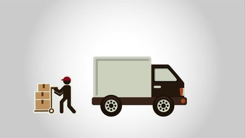 free delivery design, Video Animation