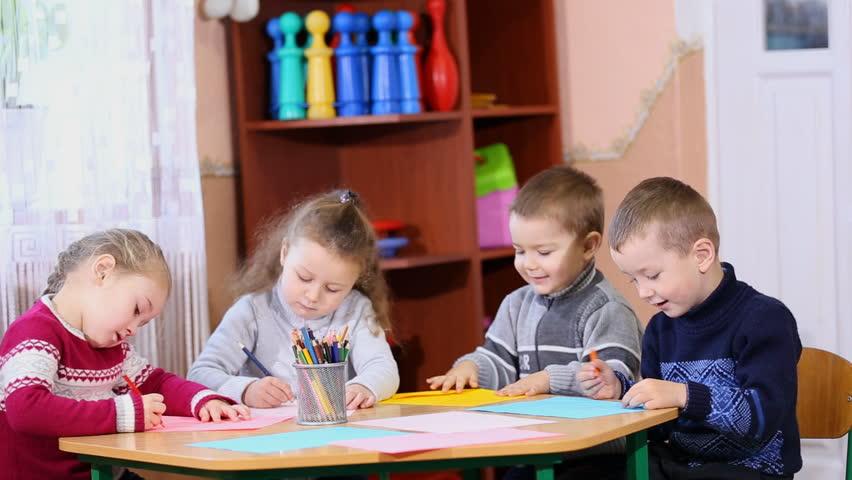 Children paint crayons | Shutterstock HD Video #14157998