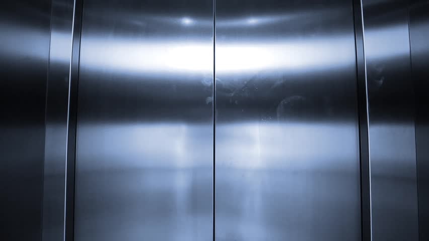 Elevator is arriving and doors open automatically Blue tone - HD stock video clip & Elevator Is Arriving And Doors Open Automatically Stock Footage ... pezcame.com