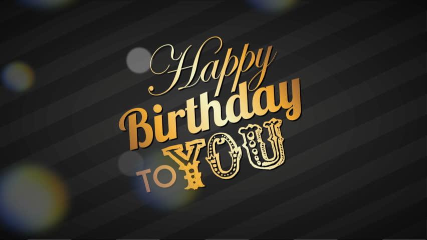 Happy Birthday Design Video Animation Stock Footage Video