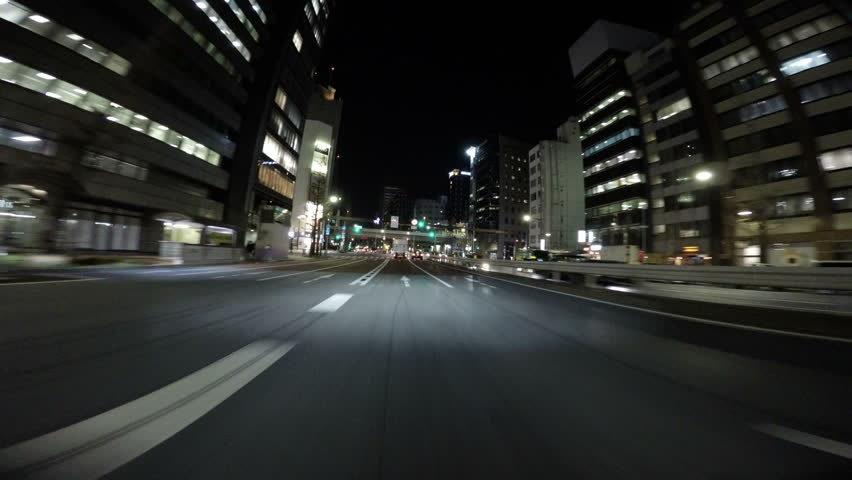 March 12 Tokyo, Japan - Nightscape drive through the tunnels running underground Tokyo's main highway. | Shutterstock HD Video #14215088