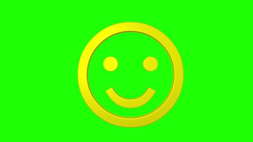 Smile face emoticon rotating green screen chroma key social media | Shutterstock HD Video #14229668