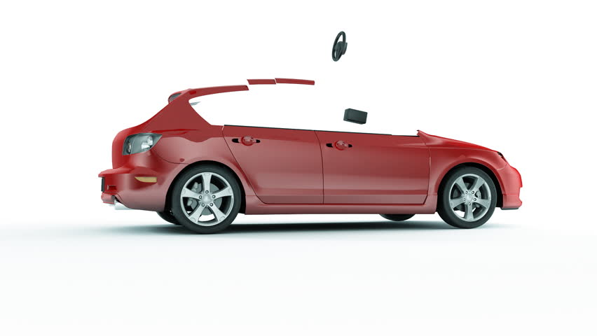 Car Creation Beautiful 3d Animation. Assembly Process. HD 1080.