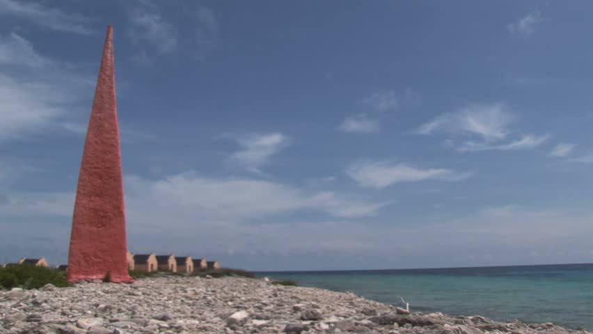 Houses on the beach in Bonaire
