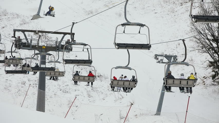Superbe Ski Lift Chairs On Winter Stock Footage Video (100% Royalty Free) 14390968  | Shutterstock