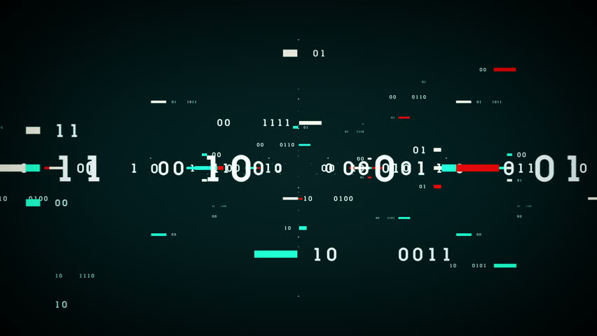 Binary Data Bits - Binary numbers and data passing through cyberspace. This clip is available in multiple color options and loops seamlessly. | Shutterstock HD Video #14396878