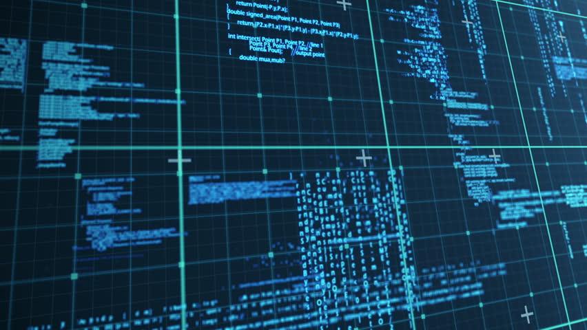 Digital animation of a blue matrix | Shutterstock HD Video #14401708