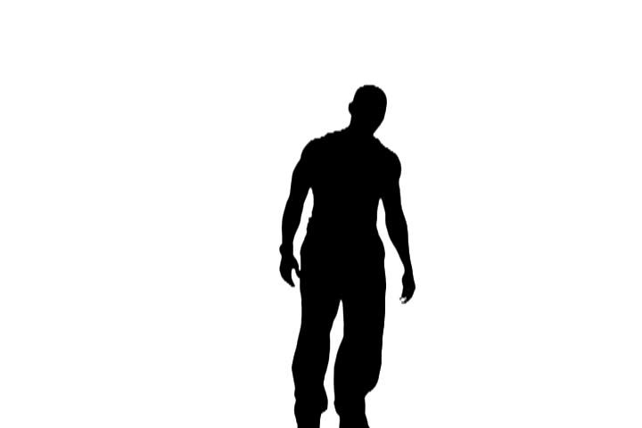 Silhouette of man dancing