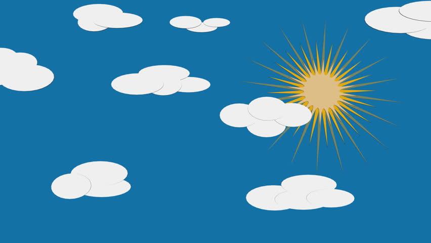 set of 7 animated weather icons sunny thunderstorm