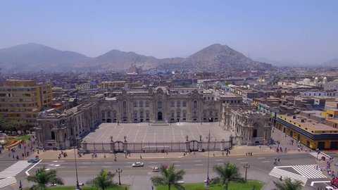 Flight over Main Square, Lima