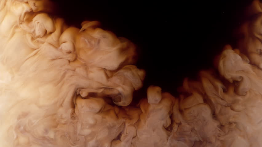 Coffee creamer swirling in coffee, shot with Phantom Flex 4K at 1000 frames per second