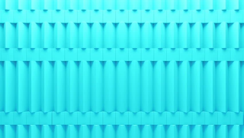 Abstract rectangular and box elements background with randomly rotated elements, 3d render or boxes and rectangles with fillet edges, loopable  | Shutterstock HD Video #14498698