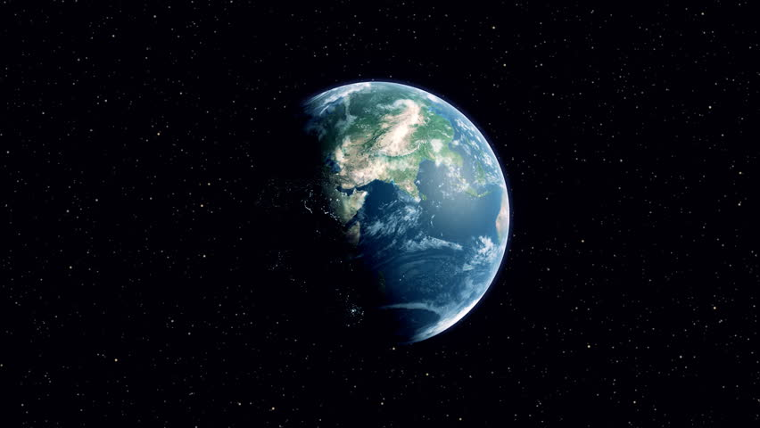 Beginning With A Spinning Earth In Space, Then Zooming Out ...